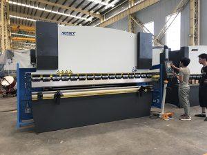 30T гидравлик гулзайлтын машин, DA41 хяналтын систем бүхий хэвлэлийн тоормозны төмөр хавтанг нугалах